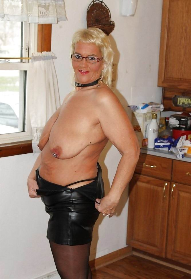 Blonde mature mom double